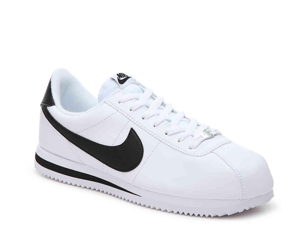 best website 65c35 e27b8 Nike. Mens White Cortez Basic Leather