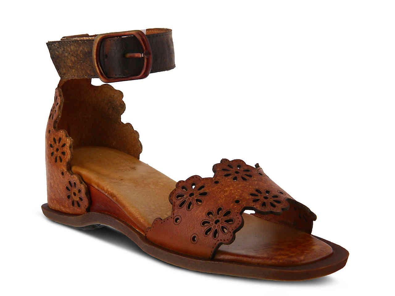 cbef79836e Lyst - Spring Step Niarah Wedge Sandal in Brown