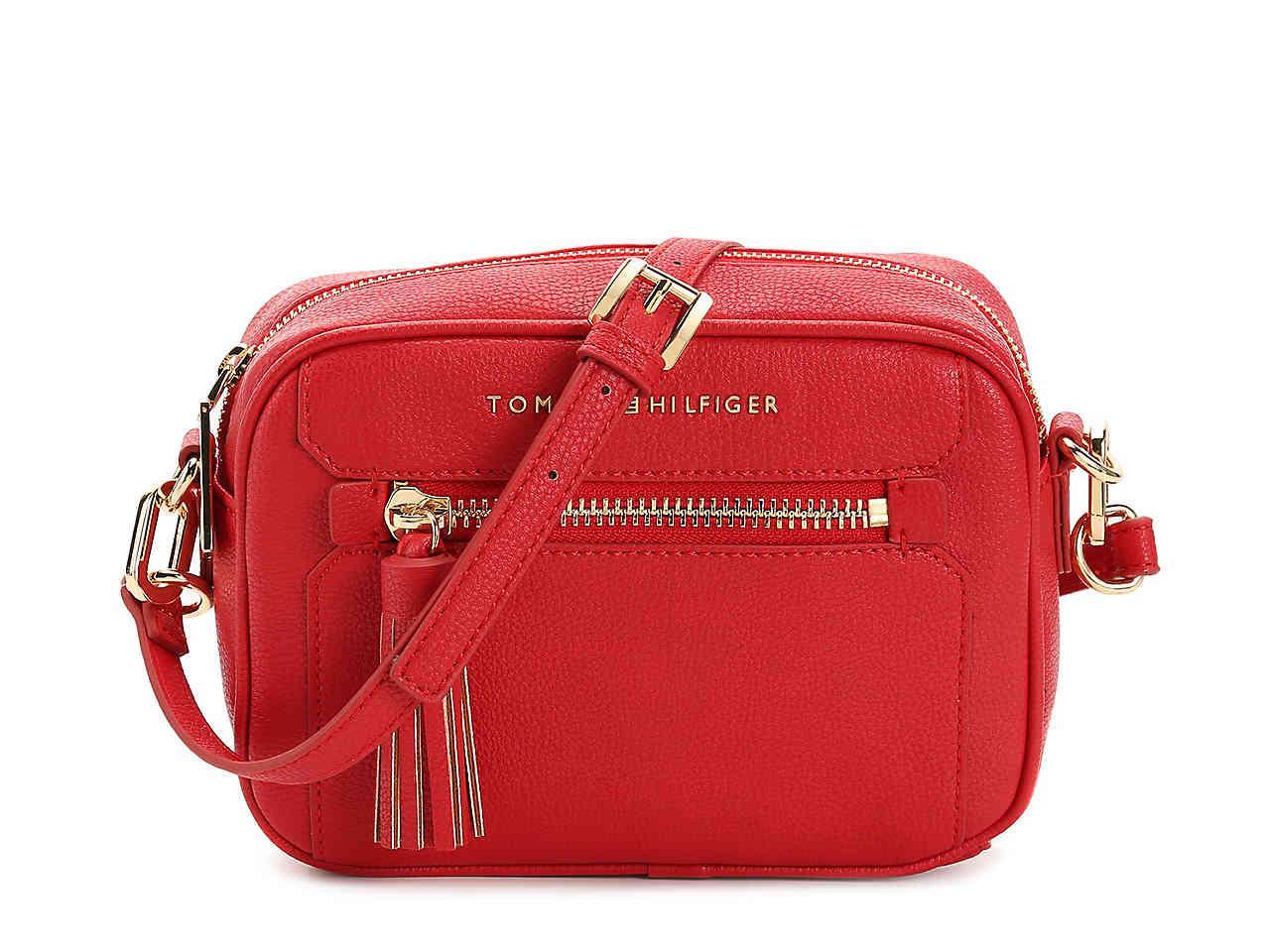 66235eeaea Lyst - Tommy Hilfiger Macon Crossbody Bag in Red
