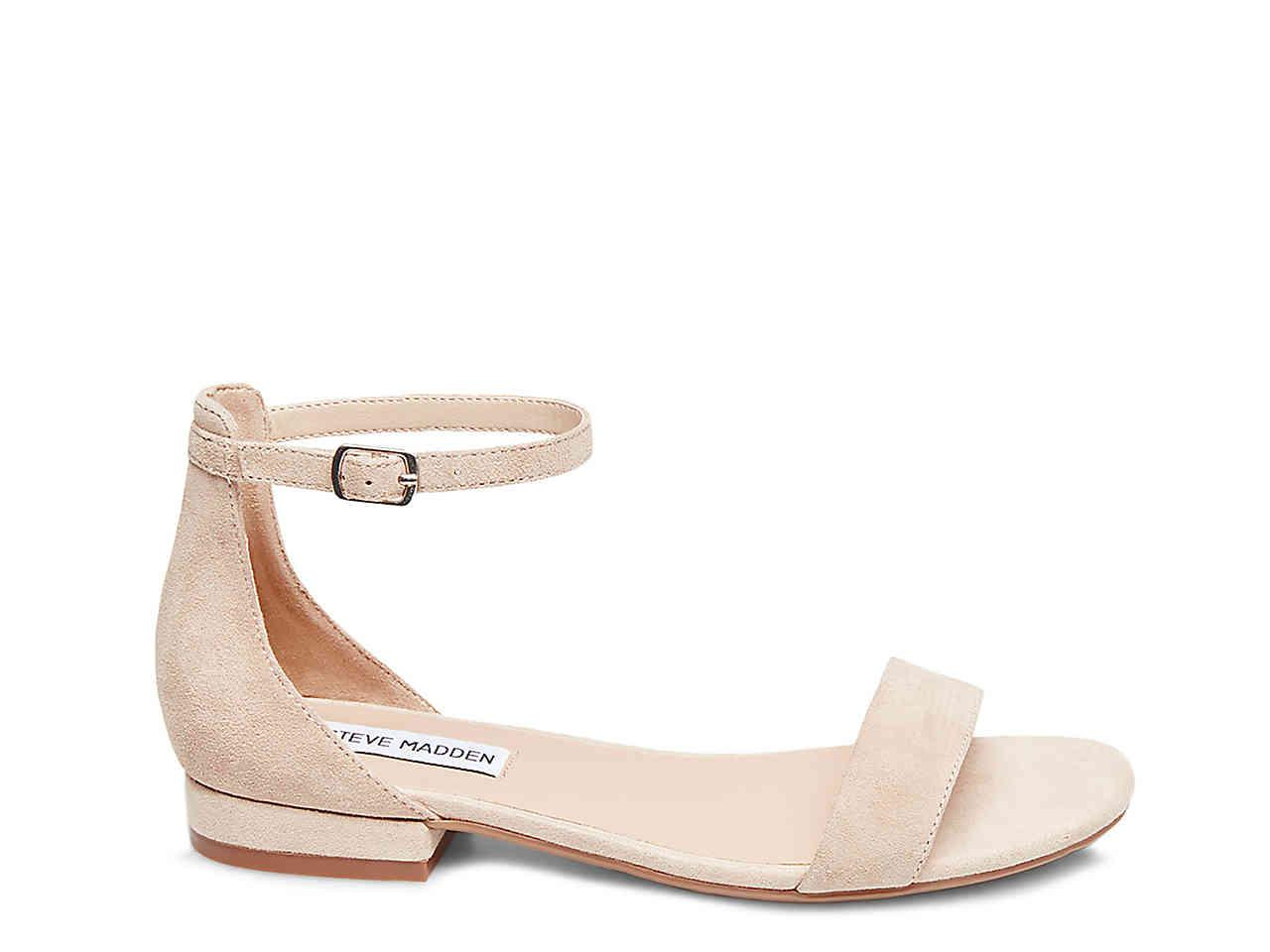96fc111023a Lyst - Steve Madden Lamp Flat Sandal in Natural