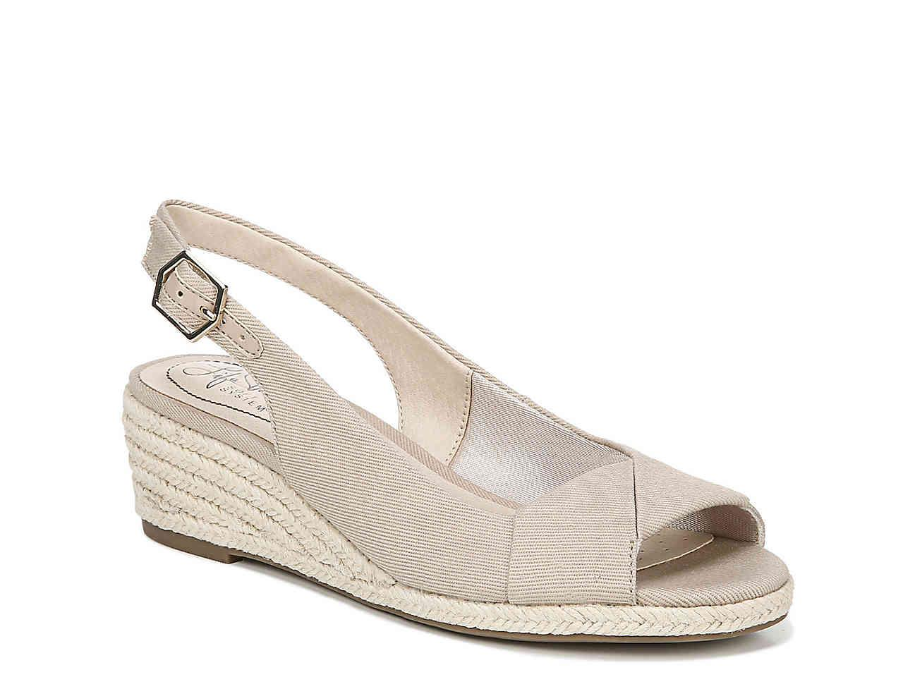 67c776f8b6cb Lyst - LifeStride Socialite Espadrille Wedge Sandal in Natural