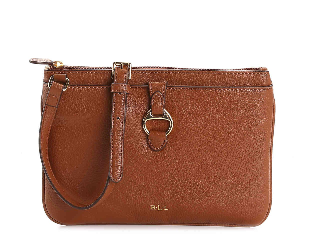 9e9b0b1d39 Lyst - Lauren by Ralph Lauren Anfield Ii Crossbody Bag in Brown