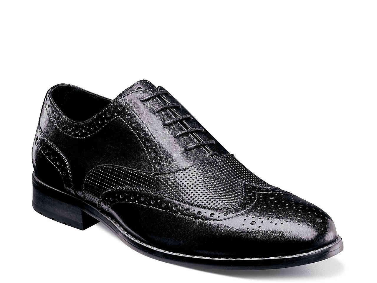 Nunn Bush. Men's Black Tristan Wingtip Oxford