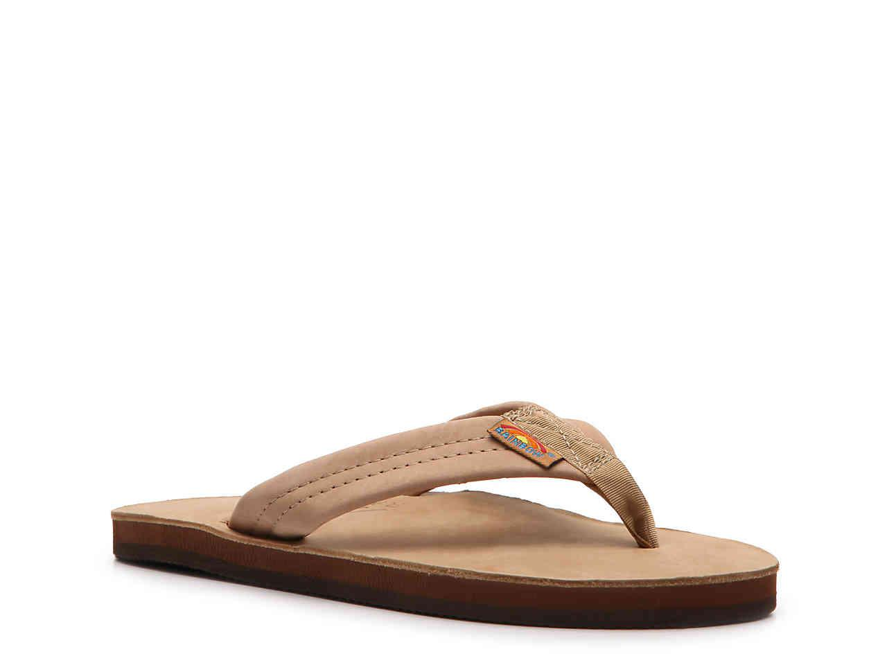a1d0423049929a Lyst - Rainbow Sandals Thick Strap Flip Flop in Brown
