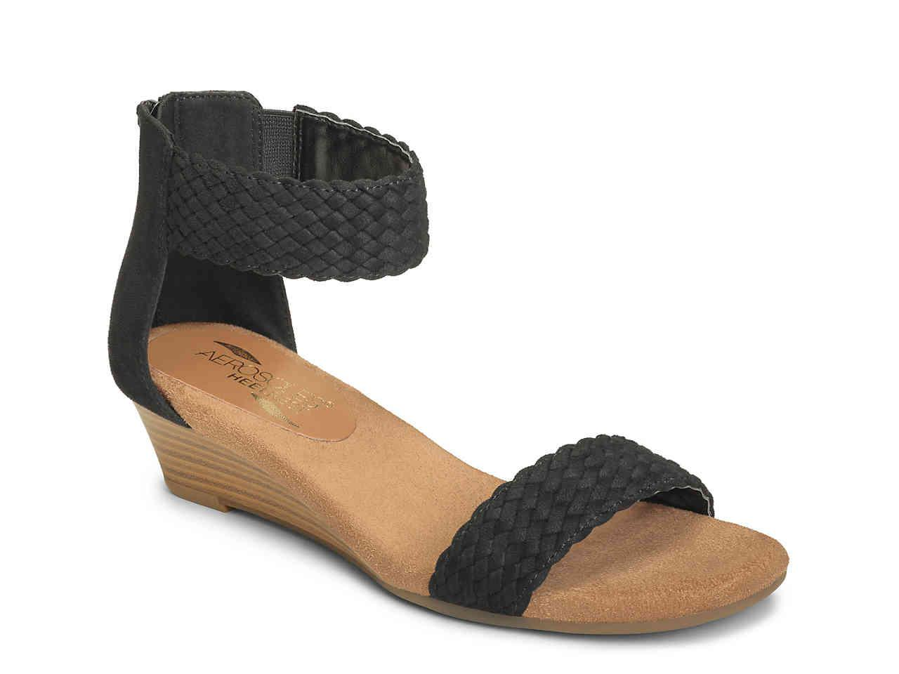 dde64a2ca88 Lyst - Aerosoles Yetroactive Wedge Sandal in Black
