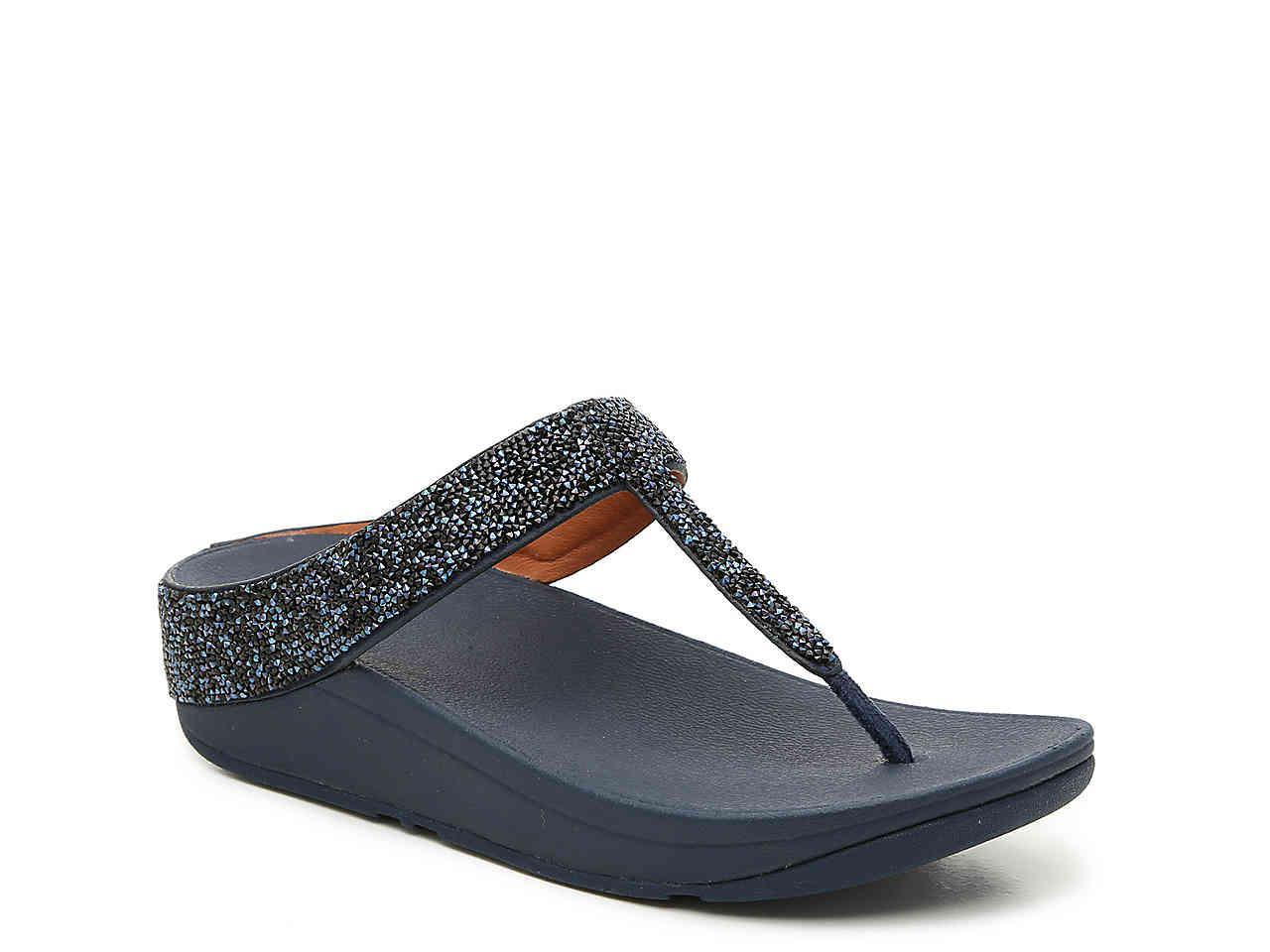 eb6da2109999 Lyst - Fitflop Fino Wedge Sandal in Blue