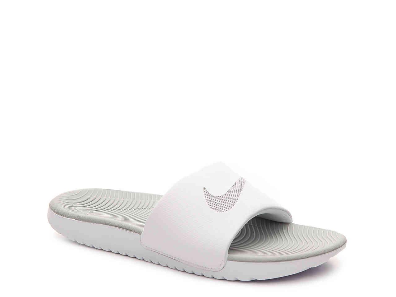 312b81e3c60443 Lyst - Nike Kawa Slide Sandal in White