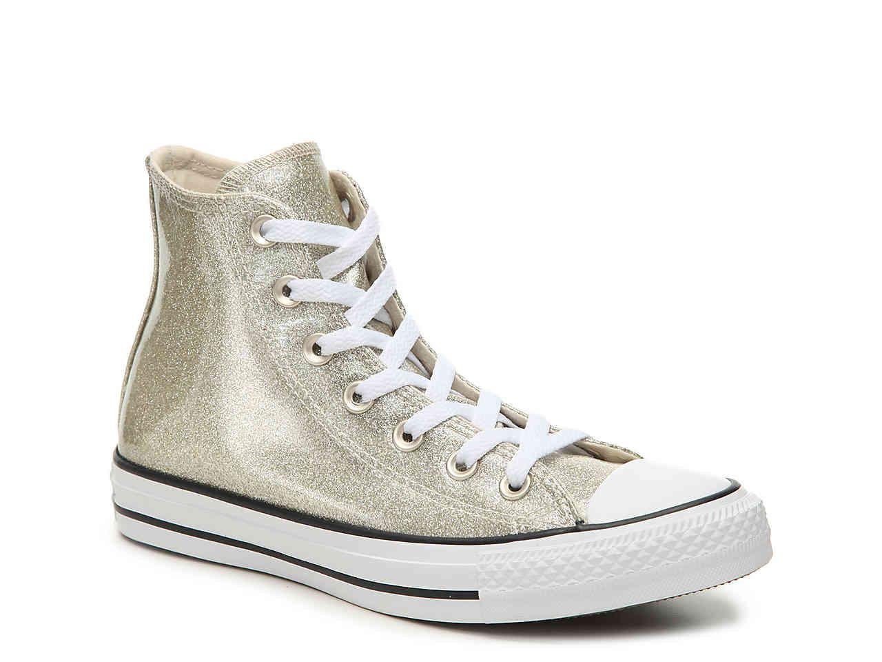 Lyst - Converse Chuck Taylor All Star Glitter High-top Sneaker in ... a0f65c53c