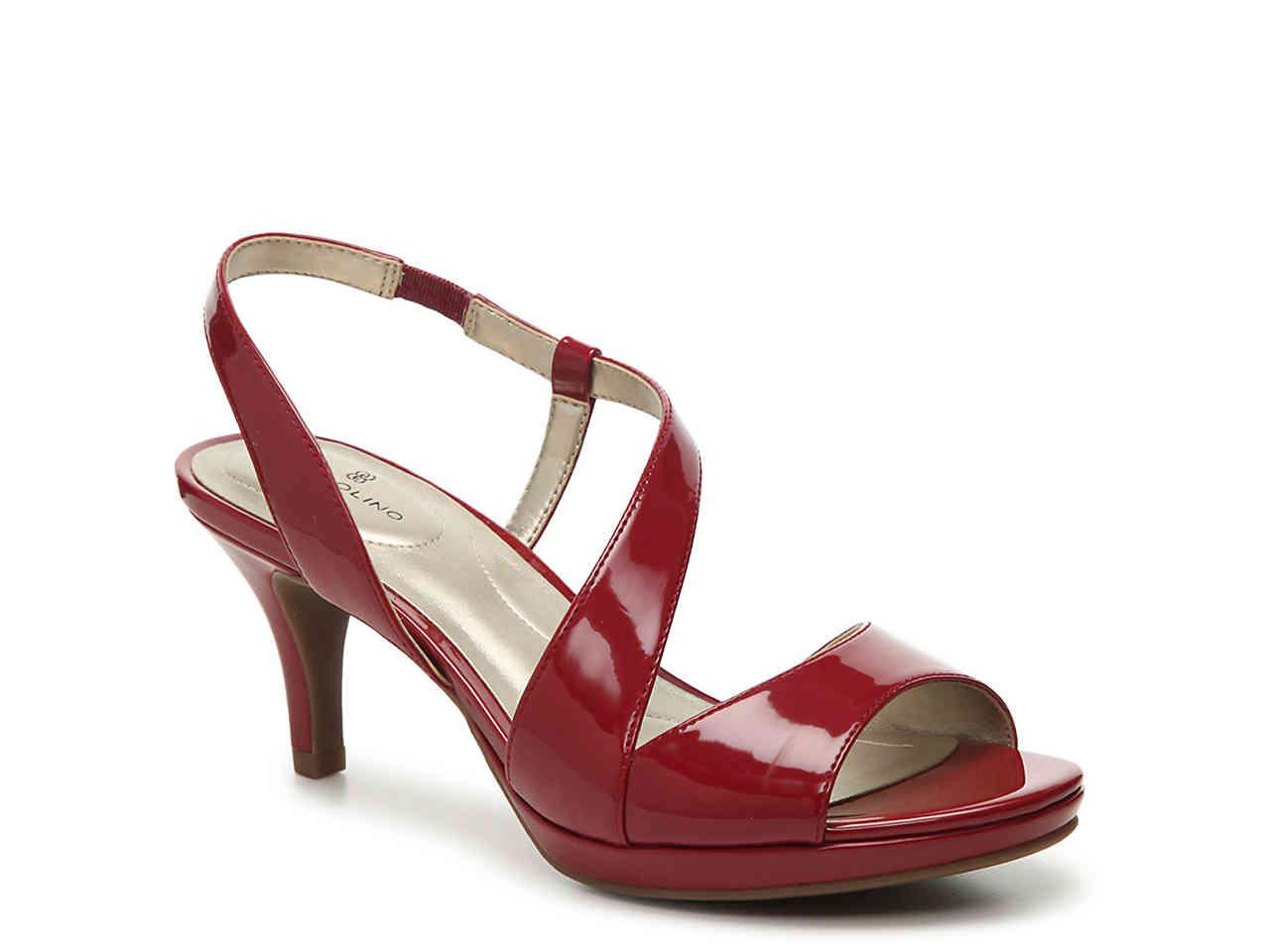 704c5fdface6 Lyst - Bandolino Karcsi Platform Sandal in Red