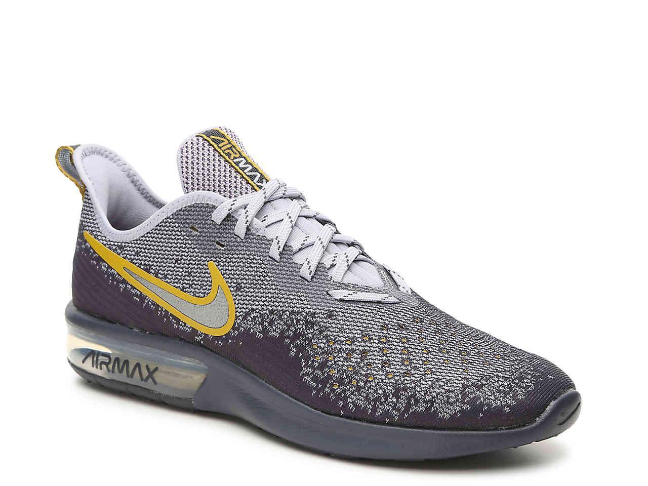 Nike. Men's Gray Air Max Sequent 4 Lightweight Running Shoe