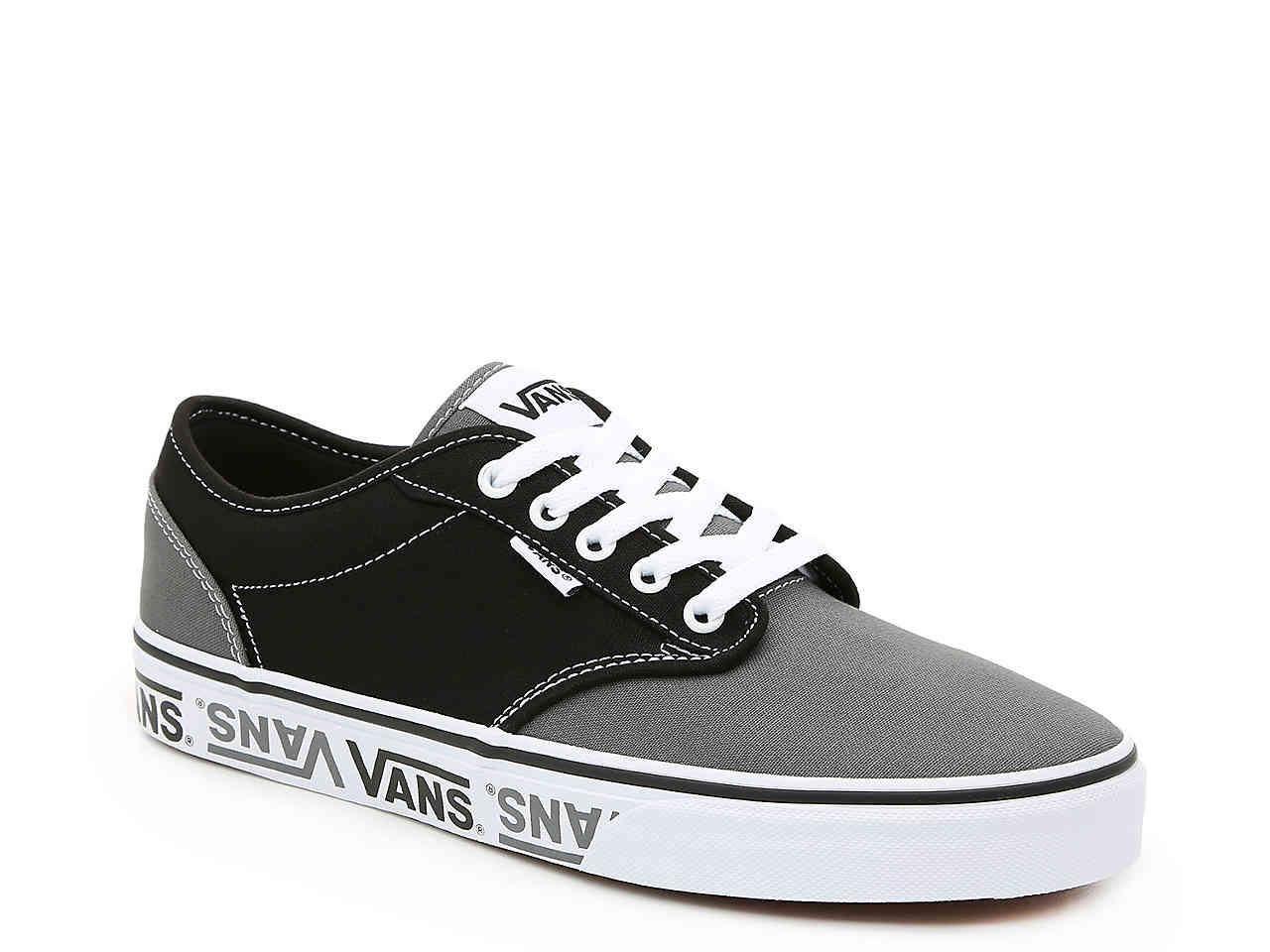 Lyst - Vans Atwood Logo Sneaker in Black for Men e050c7c65