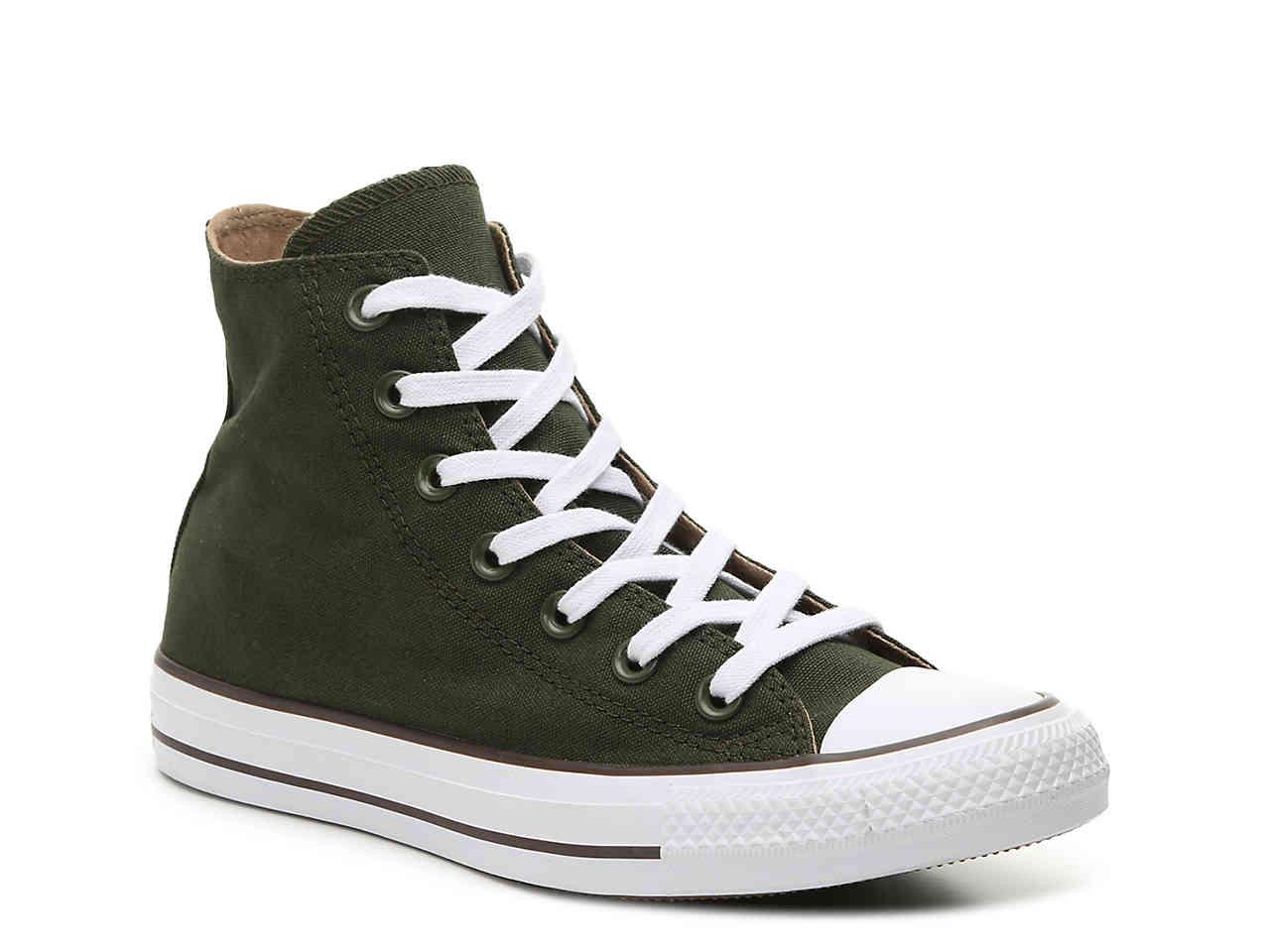1ca6af492c4055 Lyst - Converse Chuck Taylor All Star High-top Sneaker in Green