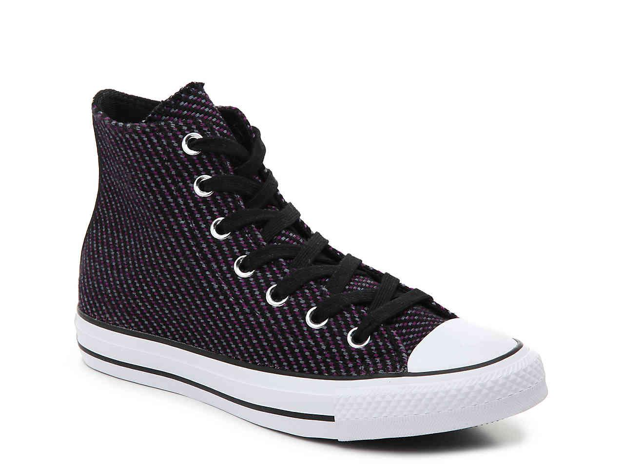 95bba44ef60f3b Lyst - Converse Chuck Taylor All Star Knit High-top Sneaker in Black