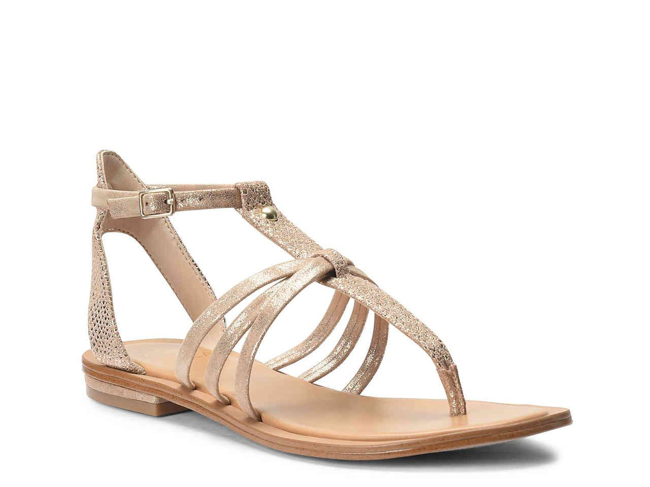Isola Marica Distressed Foil Suede Sandals VfCpEN
