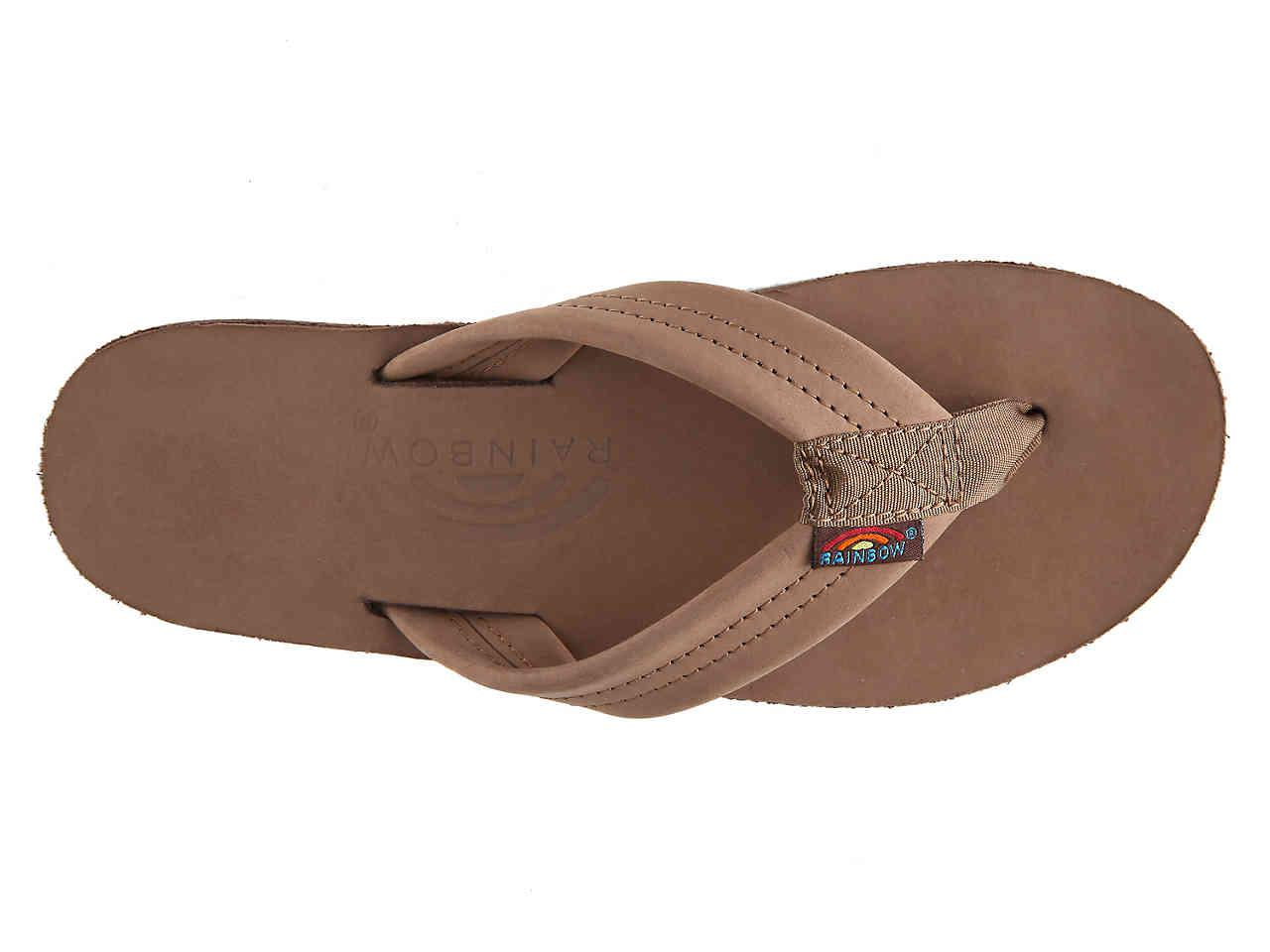 e0b825bbbff048 Rainbow Sandals - Brown Thick Strap Flip Flop - Lyst. View fullscreen