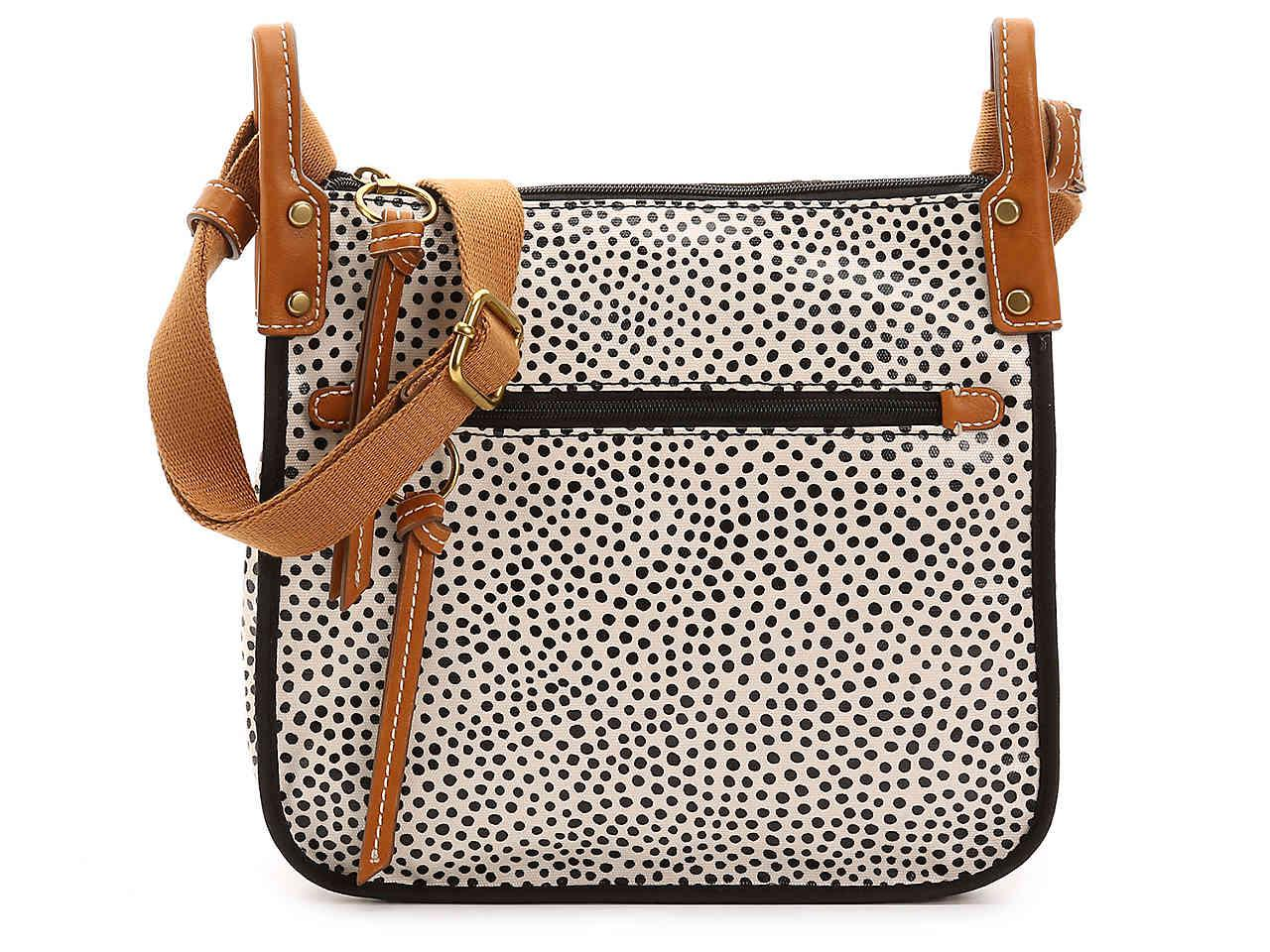 Lyst - Fossil Keyper Crossbody Bag in White 8e31dcec28