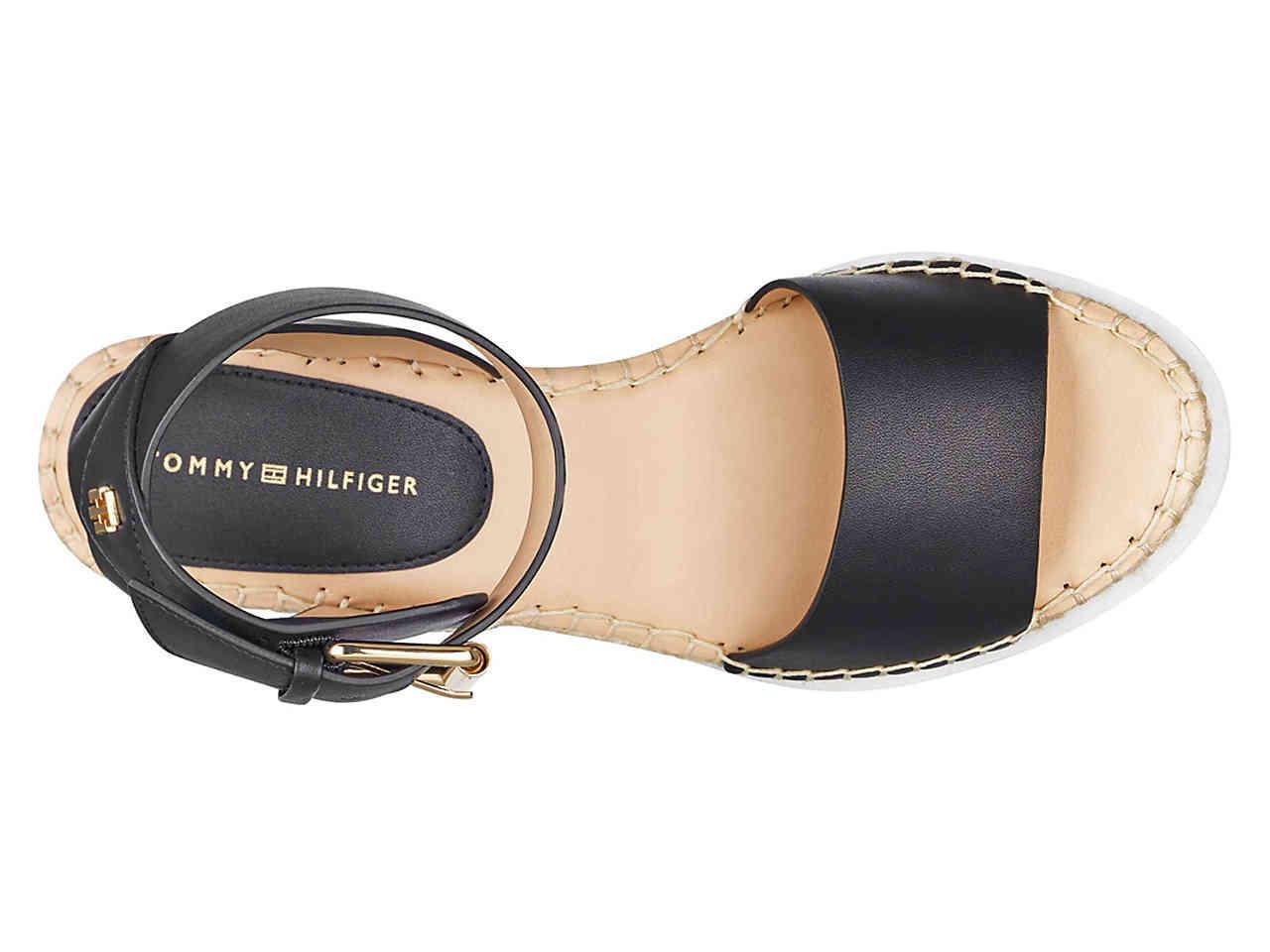 0945f165211 Lyst - Tommy Hilfiger Yaslin 2 Wedge Sandal in Black