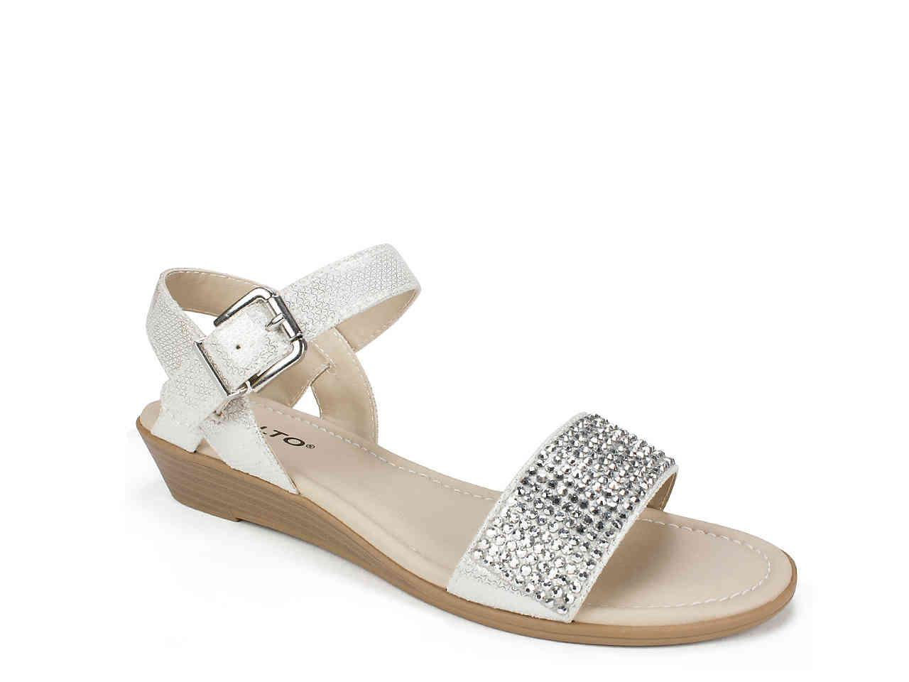3a7f81ff11c Lyst - Rialto Genette Wedge Sandal in Metallic - Save 18.51851851851852%