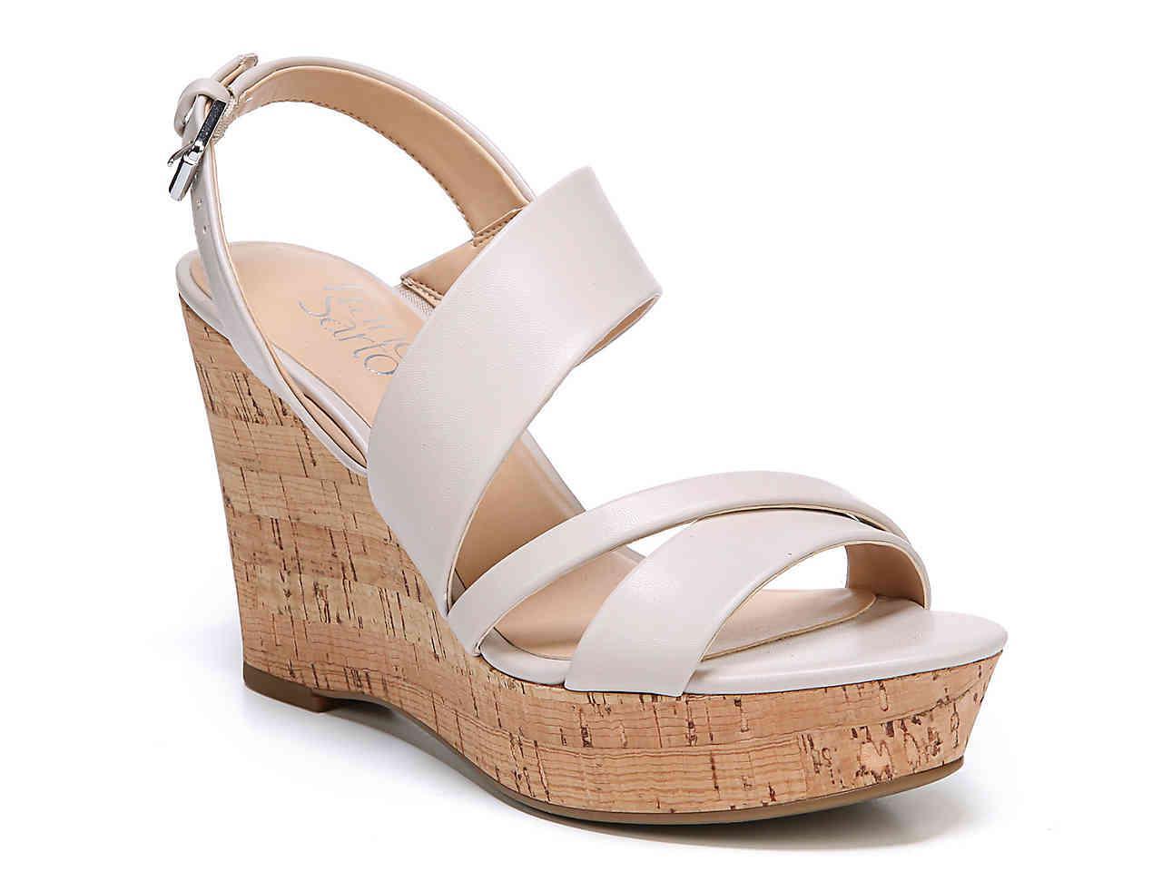 ff4ea1c392a9 Lyst - Franco Sarto Seneca Wedge Sandal in White