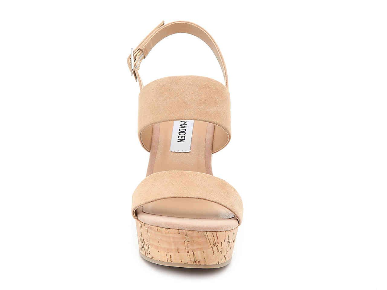 2aa7d7156c Steve Madden Hoda Wedge Sandal in Brown - Lyst