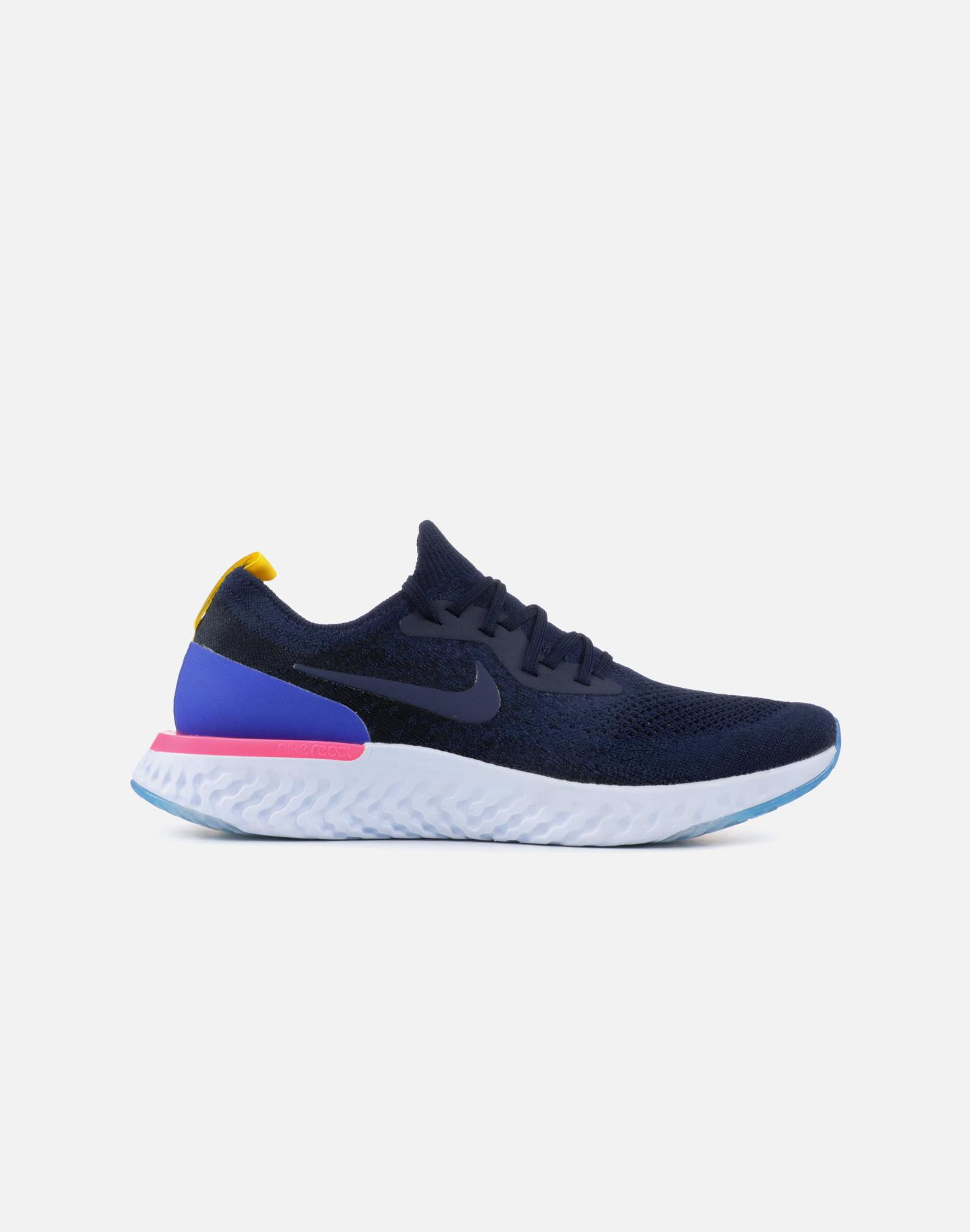 6362a823bc7f6 Lyst - Nike Wmns Epic React Flyknit in Blue