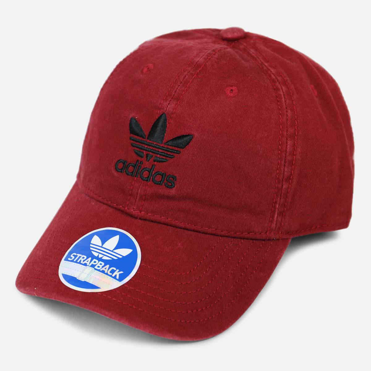589ae3ab ... wholesale adidas red originals precurved washed strapback hat for men  lyst. view fullscreen 47887 77856