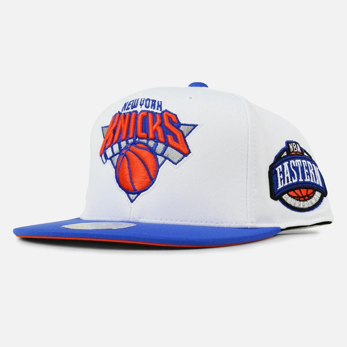 6da42dd0d1426 Lyst - Mitchell   Ness New York Knicks High Crown Fitted in White ...