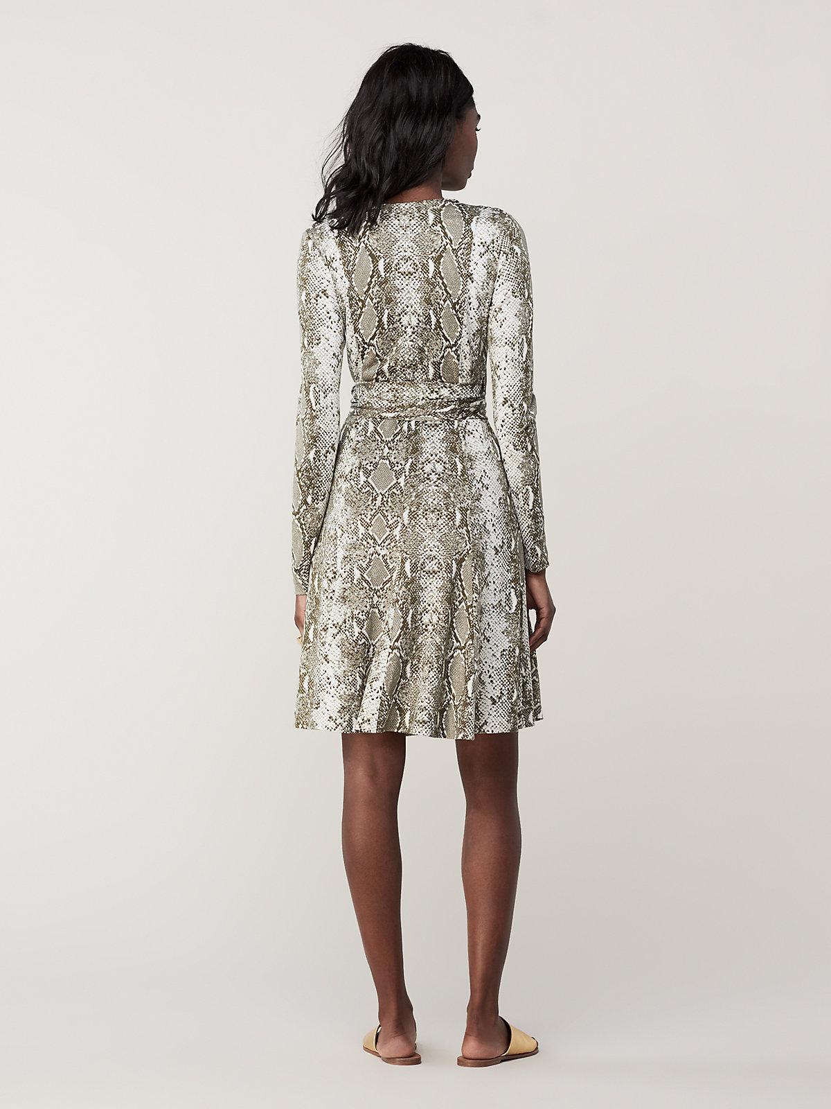 fa7a703933 Diane von Furstenberg - Multicolor Elowen Silk-jersey Wrap Dress - Lyst.  View fullscreen