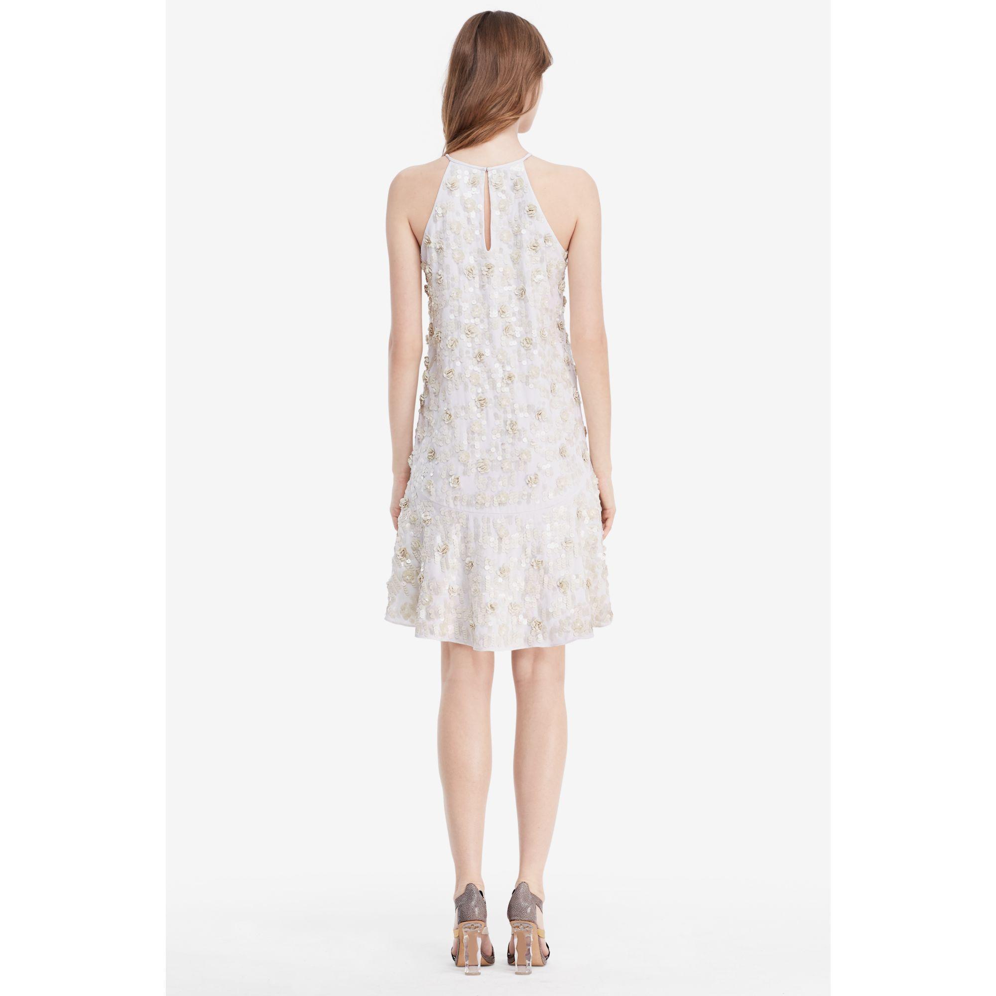 fc2581eb1ce Diane von Furstenberg Dvf Kera Sequin Embellished Dress in Natural ...