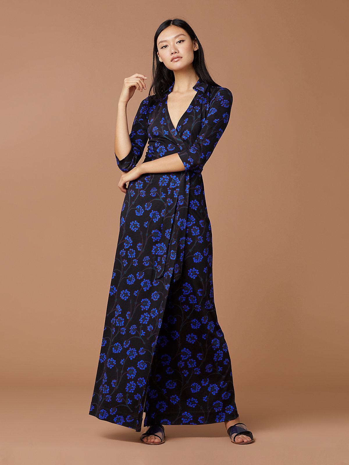 c9961a7f792 Lyst - Diane von Furstenberg Abigail Silk-jersey Wrap Dress in Blue