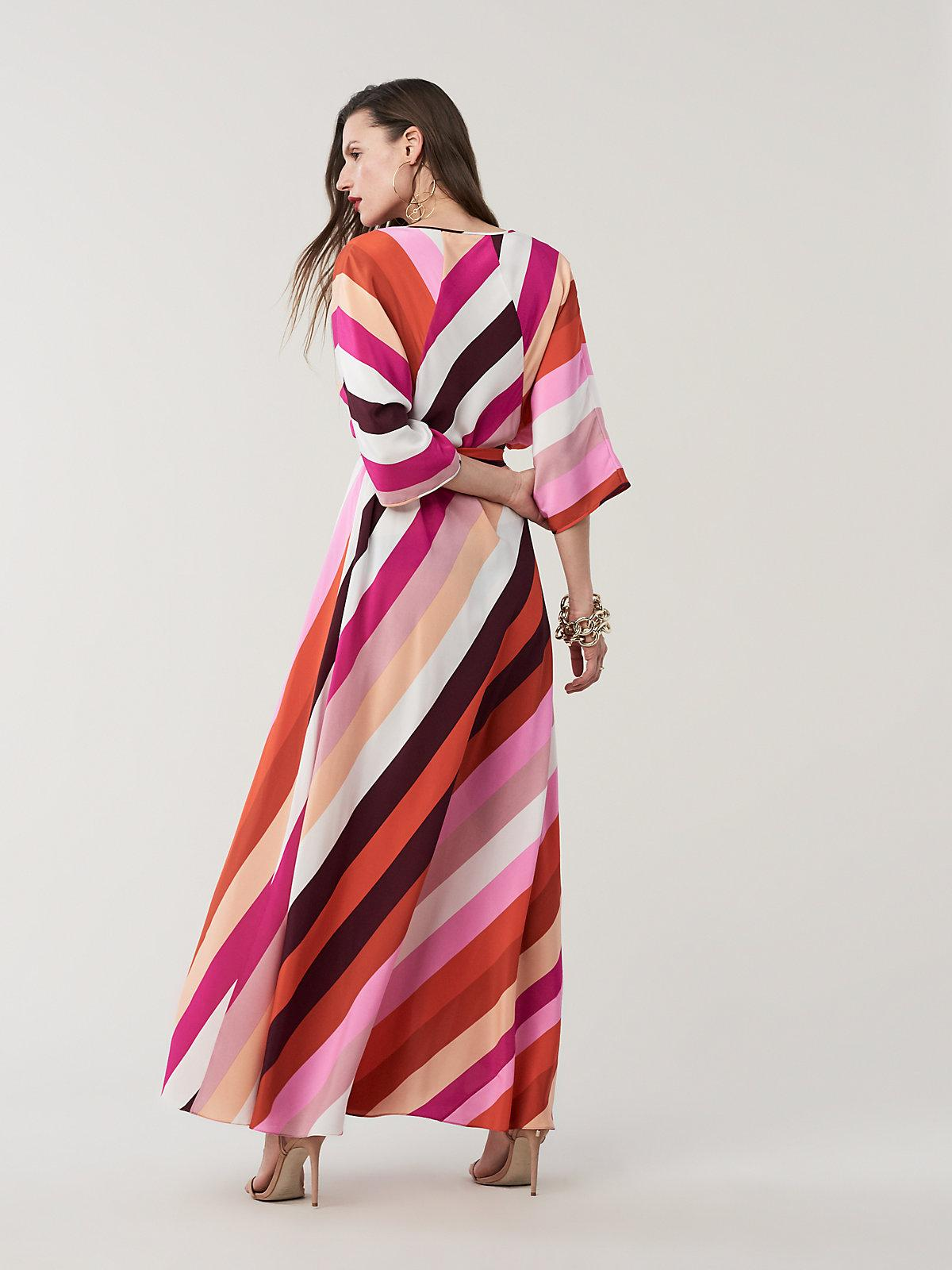 94c251cbd3 Diane von Furstenberg - Red Eloise Silk Crepe De Chine Maxi Faux-wrap Dress  -. View fullscreen