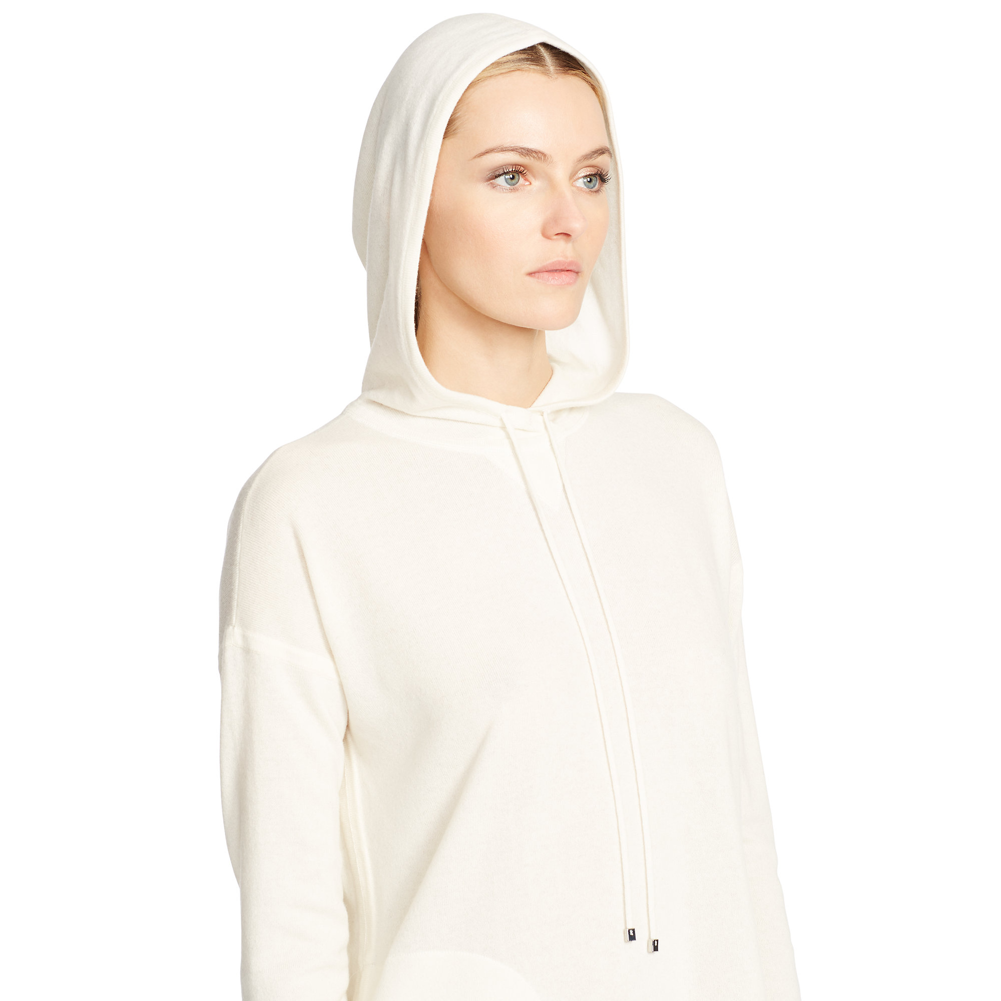Ralph lauren black label Cashmere Hoodie in Natural | Lyst