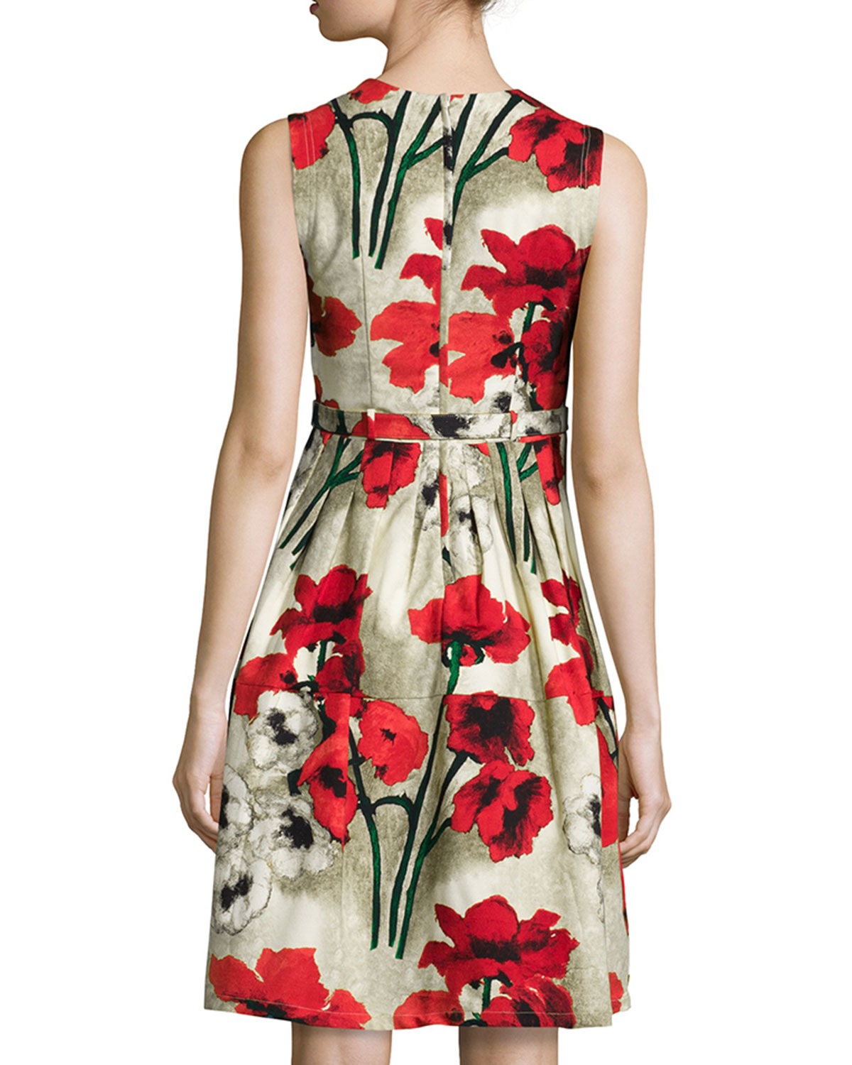 Red dress with floral pattern Samantha Sung w3h5Z