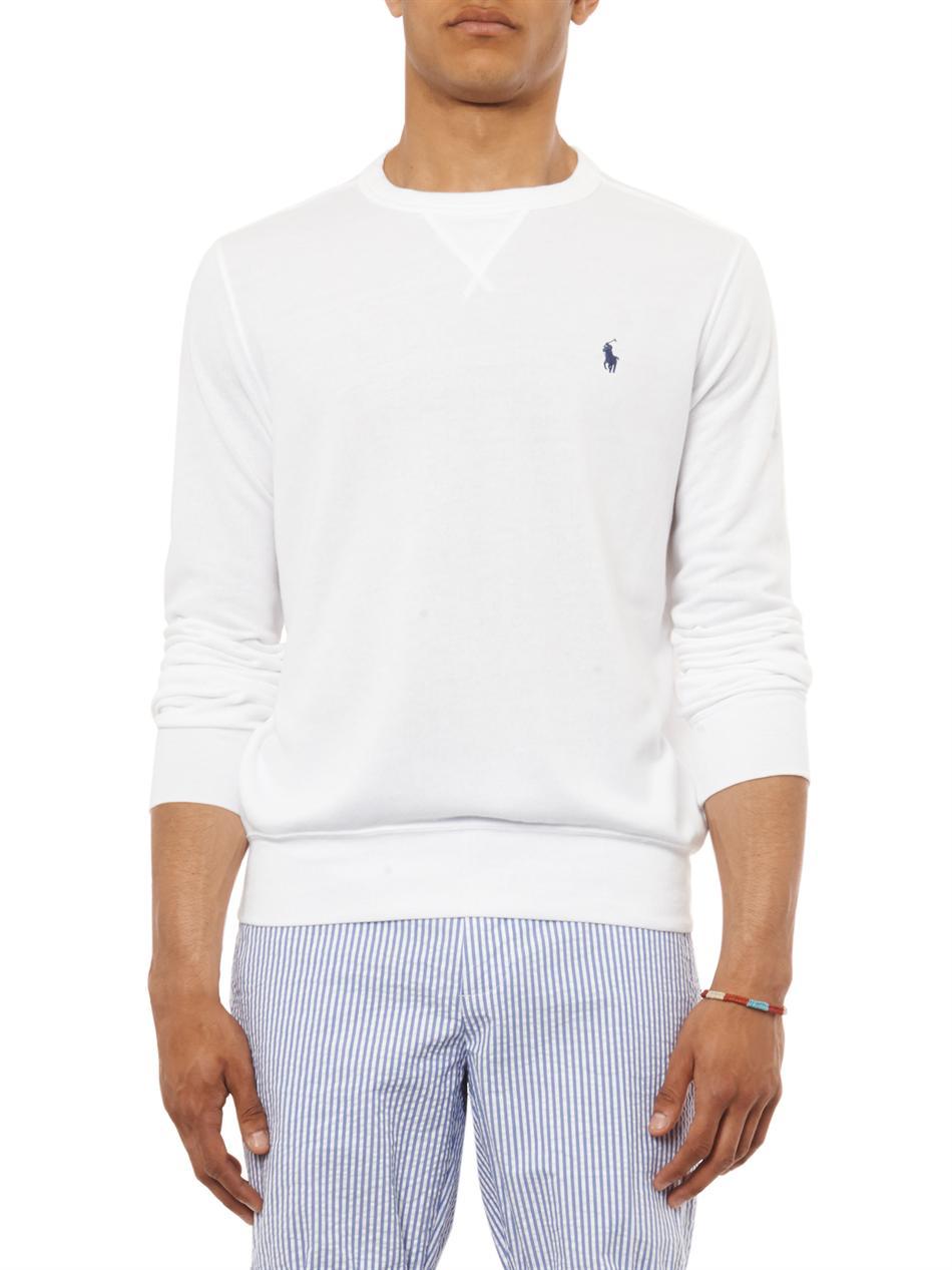 Polo Ralph Lauren Atlantic Terry Crew Neck Sweatshirt In