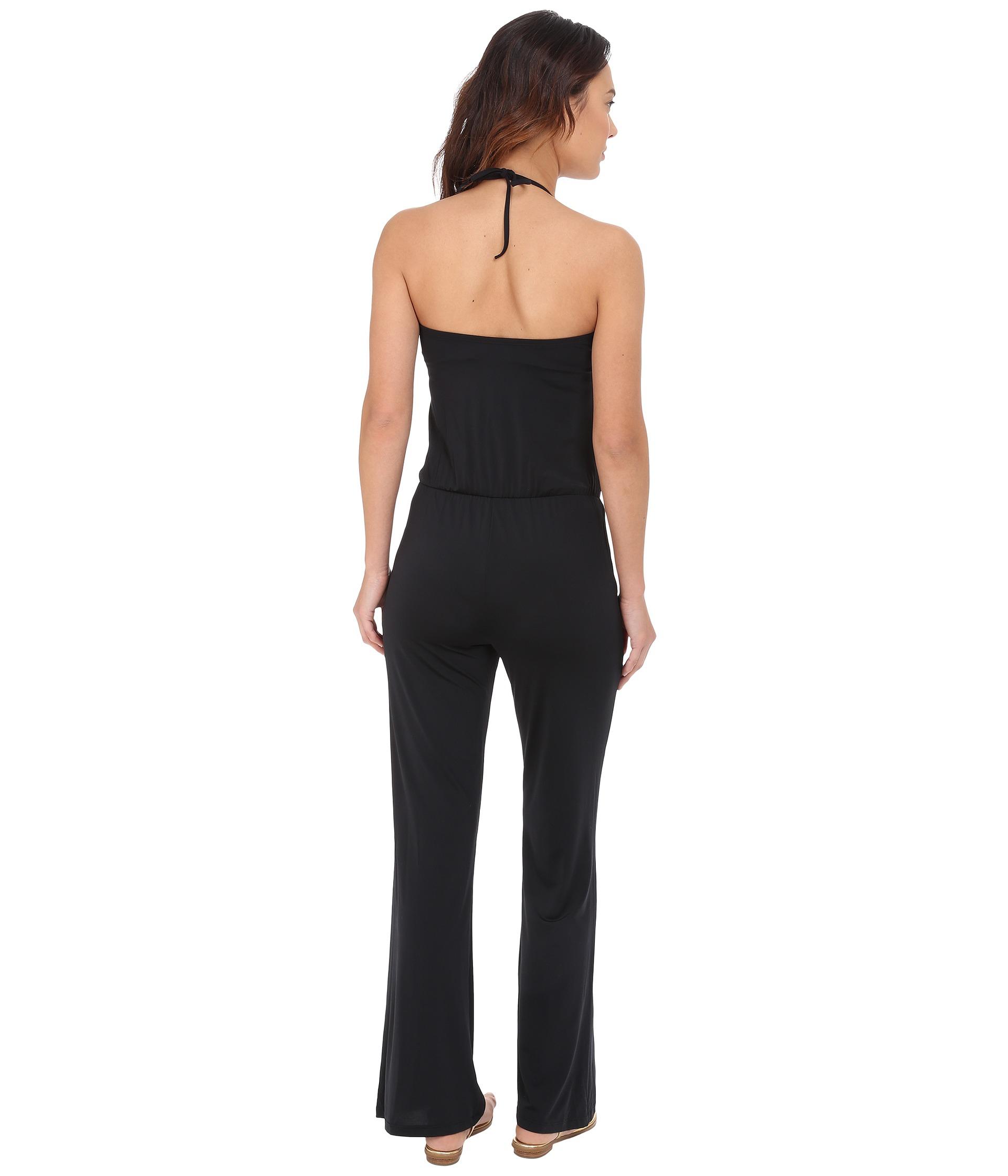 56fd3ef10a Lyst - Jantzen Mayan Paradise Bandeau Jumpsuit Cover-up in Black