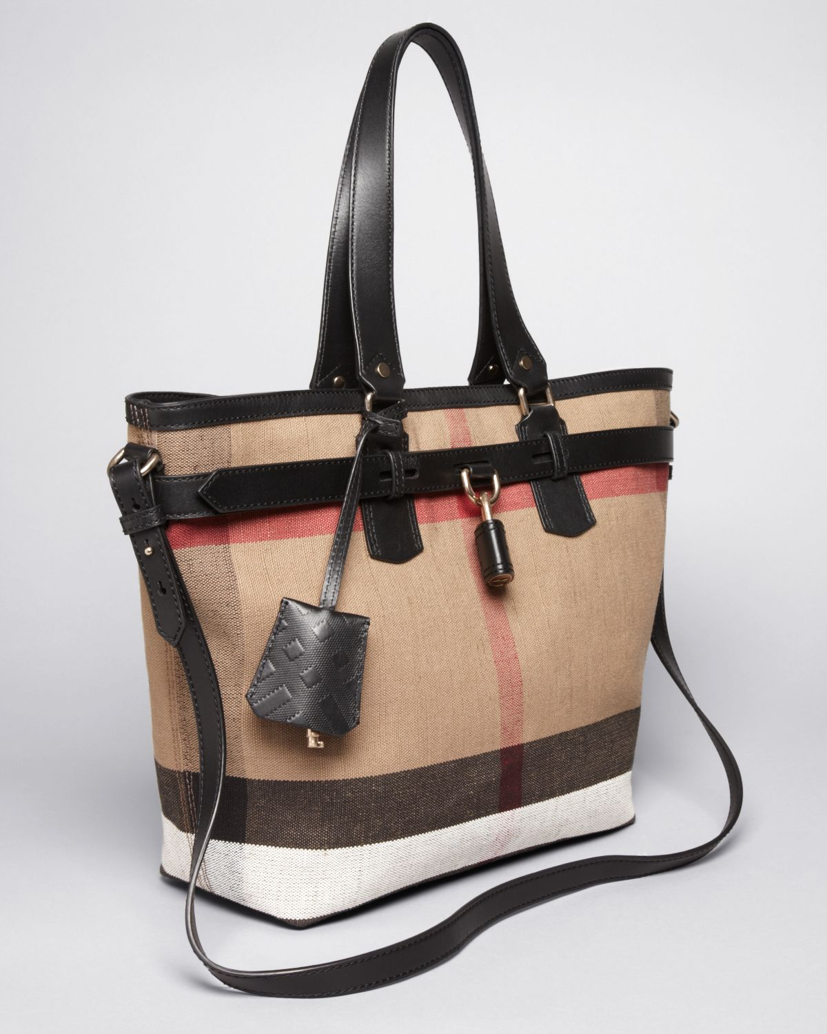 c5a7dbefda6a Lyst - Burberry Brit Tote Canvas Check Medium Traveler in Brown