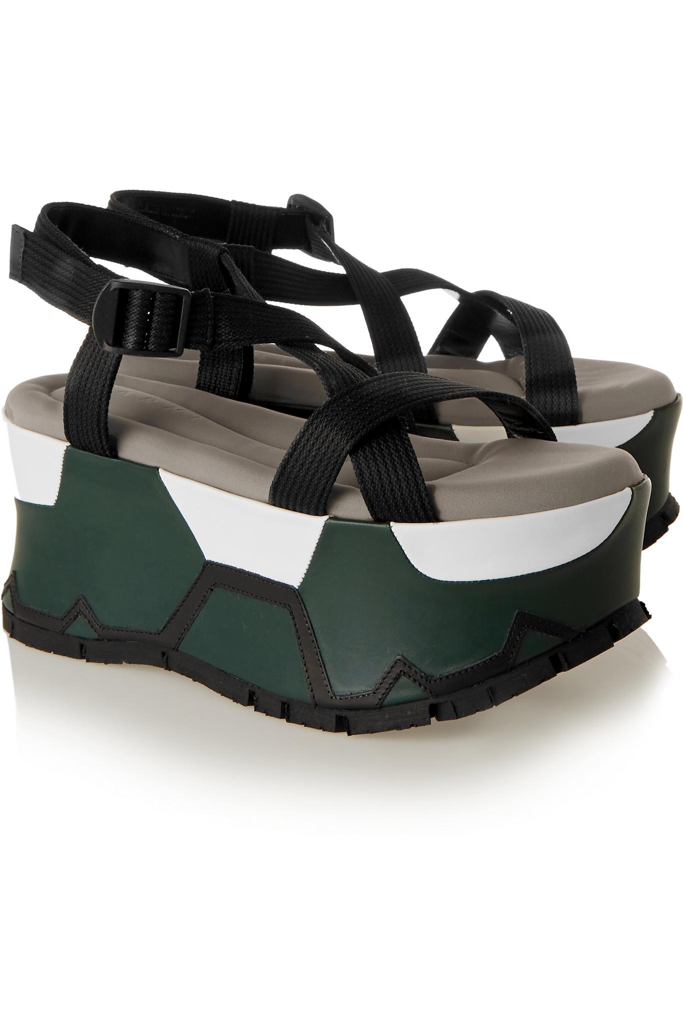 Marni Canvas platform sandals yChr3h7