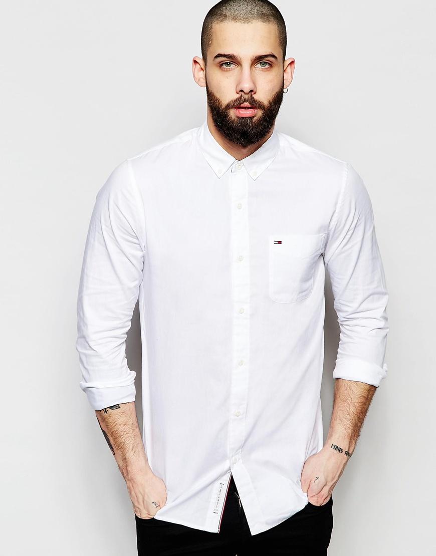 07cb6a03c763 Hilfiger Denim Shirt In Oxford In Lightweight Cotton Regular Fit in ...