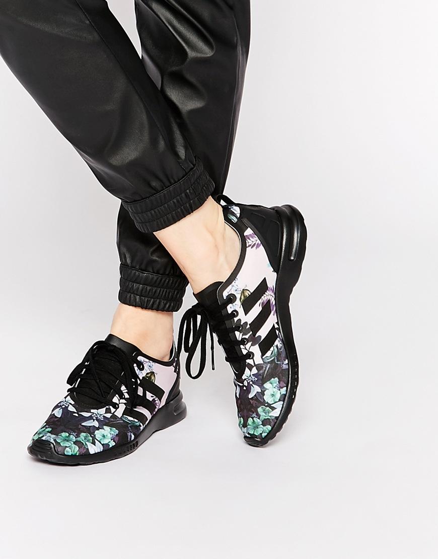 6c53a27f82d adidas Originals Originals Botanical Floral Zx Flux Trainers - Lyst