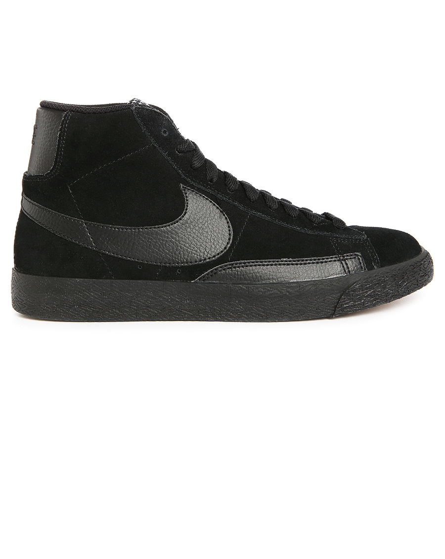 nike blazer mono black leather sneakers in black for men. Black Bedroom Furniture Sets. Home Design Ideas