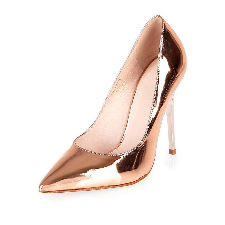 dfcb9e6156e River Island Metallic Rose Gold Stiletto Court Heels in Pink - Lyst