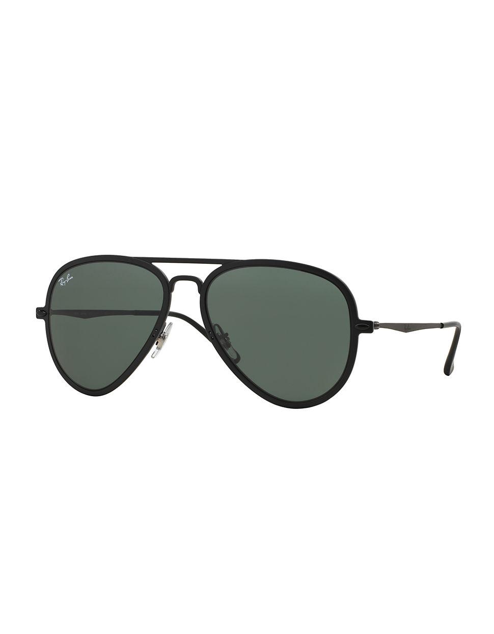 2f5a3b15f4c Ray Ban Black Aviator Sunglasses Blue Tint To Whites « Heritage Malta
