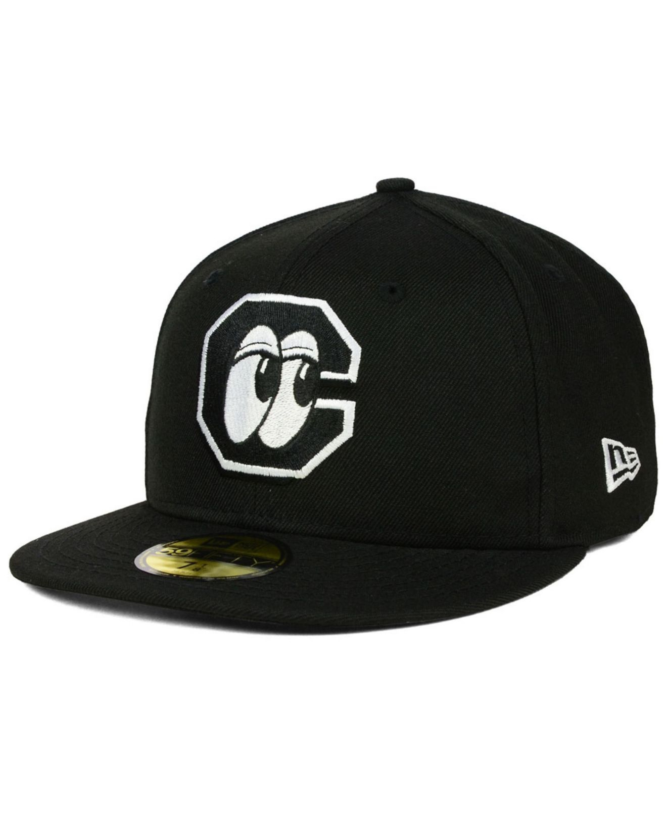 Chattanooga Lookouts Hat: Ktz Chattanooga Lookouts 59fifty Cap In Black For Men