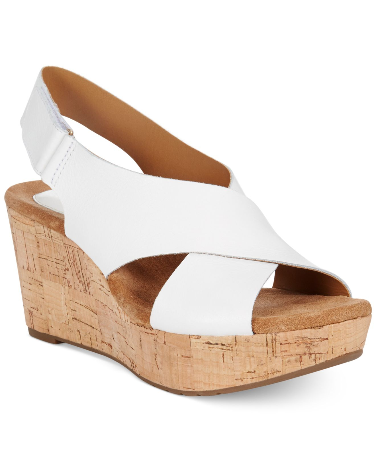 fd2665bad86 Lyst - Clarks Artisan Women s Caslynn Shae Platform Wedge Sandals in ...