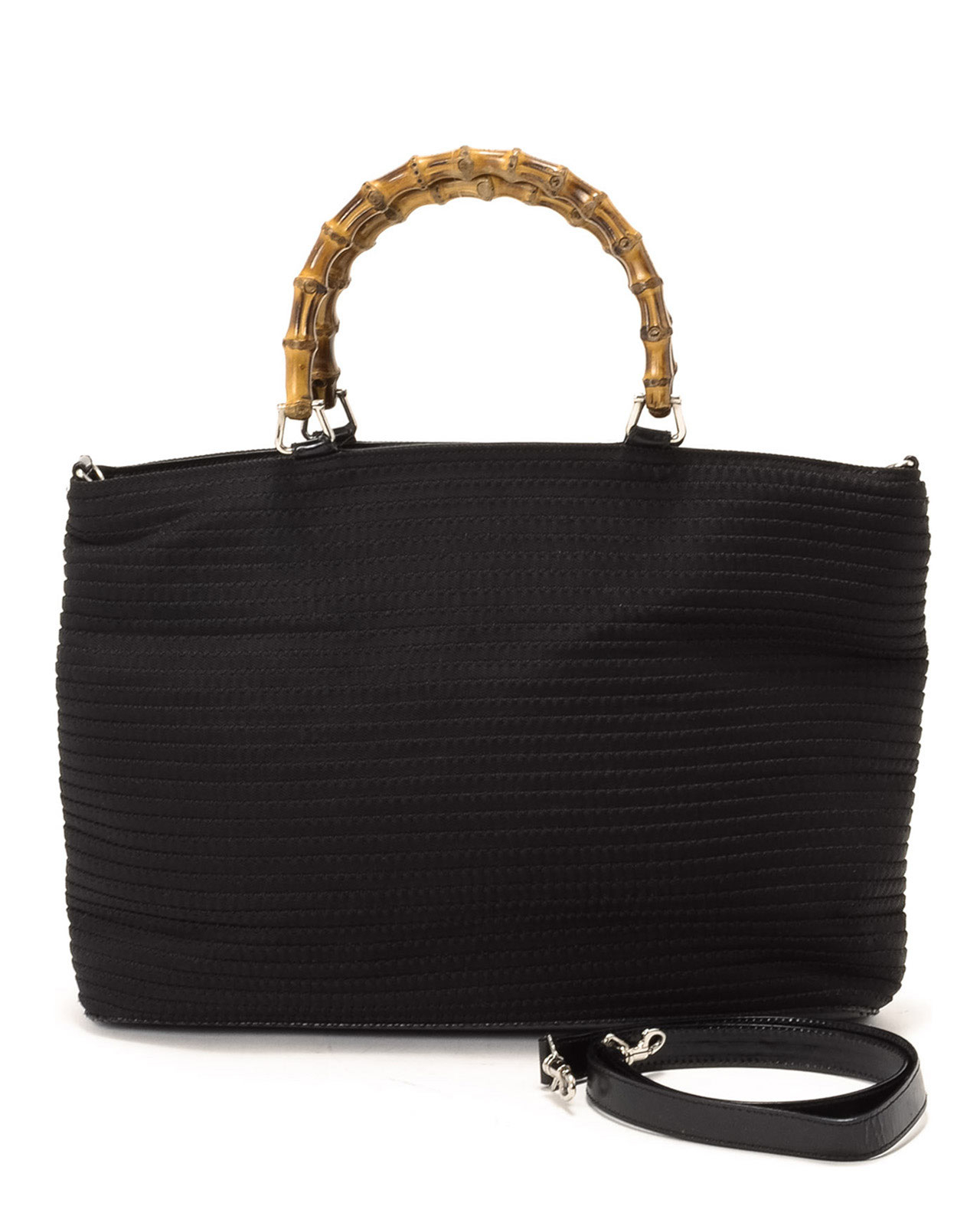d2d9b7eda1112c Gucci Bamboo Two Way Bag in Black - Lyst