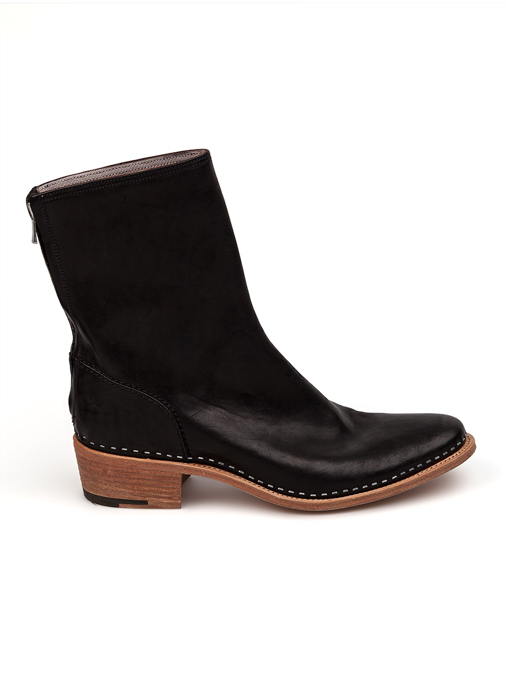 l 233 claireur low heel ankle boots in black for lyst