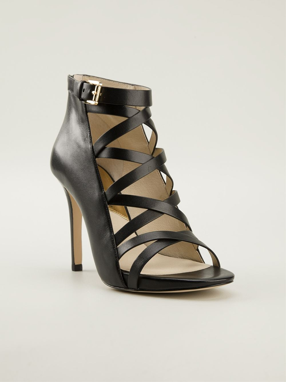 Michael michael kors Theodore Sandals in Black | Lyst