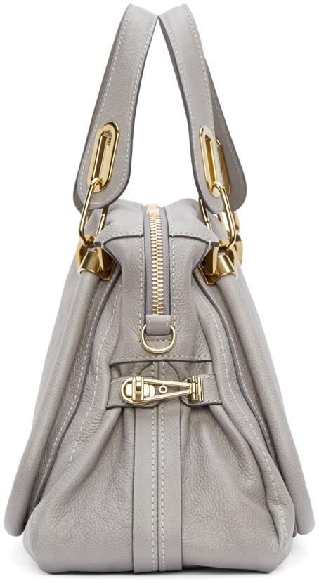 Chlo¨¦ Grey Calfskin Medium Paraty Bag in Gray (grey) | Lyst