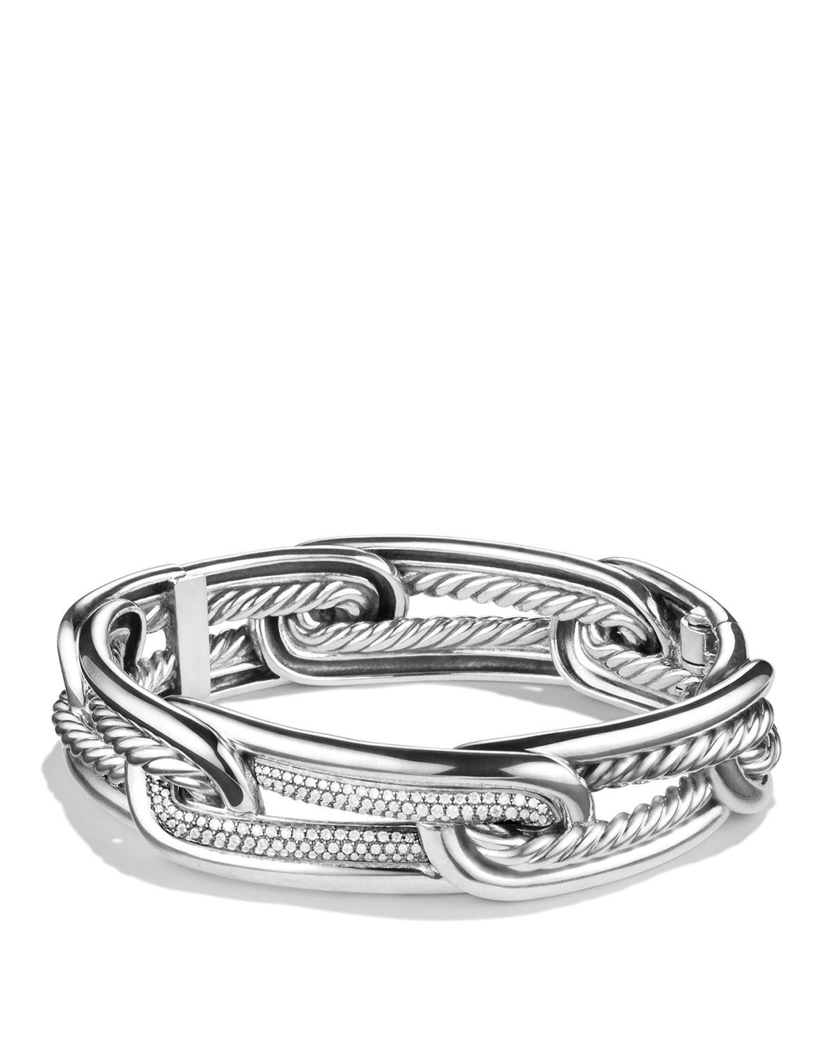 David Yurman Charm Bracelet: David Yurman Labyrinth Link Bracelet With Diamonds