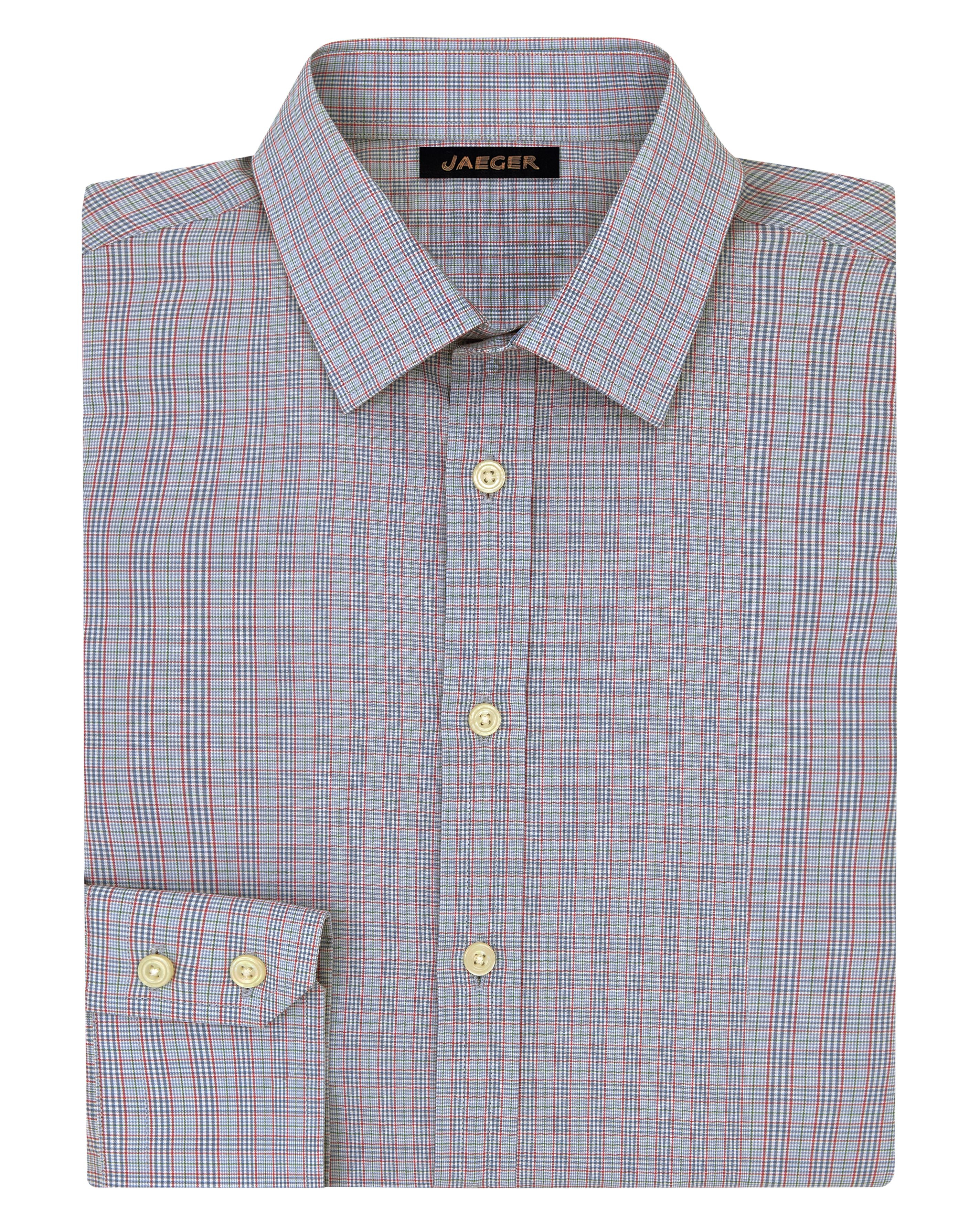 Jaeger Micro Check Classic Shirt In Pink For Men Lyst